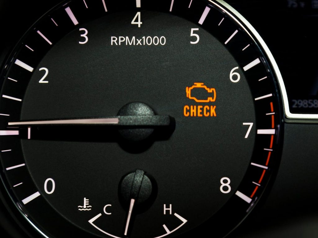 Can your car pass its mot with the engine managment light on?